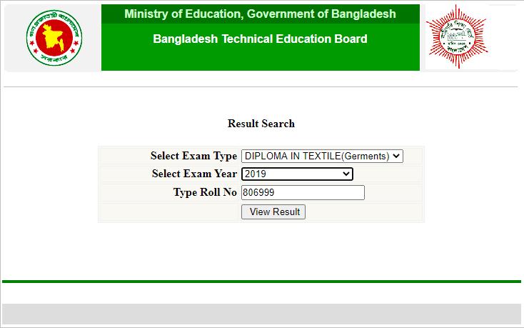 BTEB Result by bteb.gov.bd Result